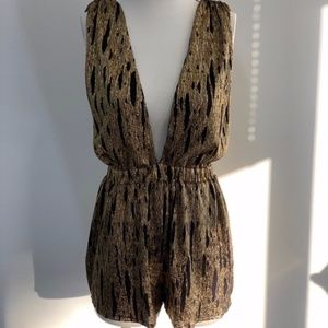 Gold and Black Romper